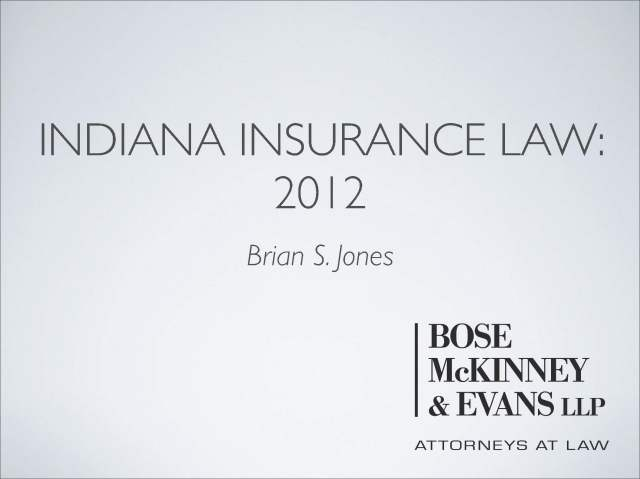 Pages from Indiana Insurance Law 2012